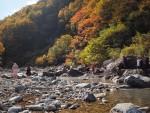 川原の露天風呂(秋山郷切明)